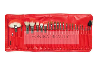 Natural Hair Handmade Makeup Brushes With Dual Tone Synthetic Hair