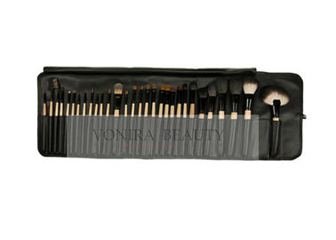 Ultimate 30 Pieces Professional Makeup Brush Set With Pro Black Roll Pouch