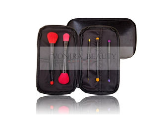 Mini Travelling Makeup Brush Collection Colorful Beauty Dual End Synthetic Fiber Bristle