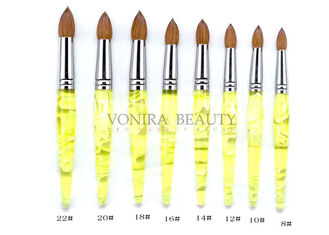 Pointed Lemon Yellow Kolinsky Acrylic Nail Brush Professional