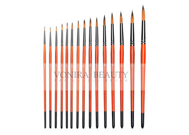 China 15Pcs Professional Round Body Paint Brushes For Oil Watercolor Gouache Face Painting supplier