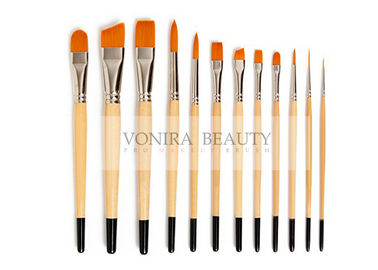 Nylon Body Paint Brushes For Acrylic Oil & Watercolor Student Artist Brushes For Beginners & Fine Art Painters