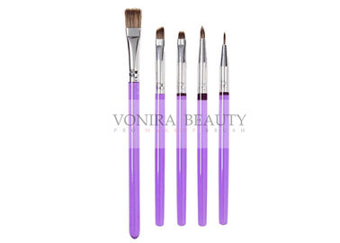 China 5Pcs Decorating Brush Set With Purple Slim Handle Art Painting Brush Collection For Food supplier