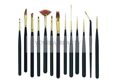 13Pcs Mini Body Art Brushes Watercolour Paint Brushes Collection With Premium Synthetic Sable Hair