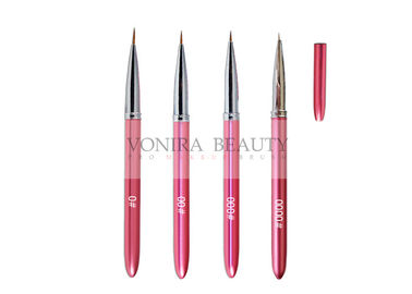 4PCS Pink Nail Art Brushes Tips Dotting Brush Kit For Drawing , Painting Pen Tool With Cap