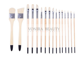 Artist Professional Body Paint Brushes Set With Carrying Case 16Pcs Watercolor Oil Acrylic Painting Brushes