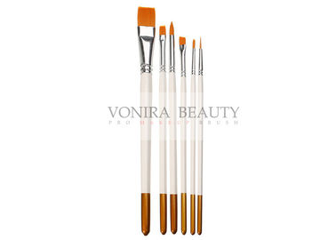 6Pcs Artist Paint Brushes Set For Acrylic Watercolor Oil Painting Craft Nail Face