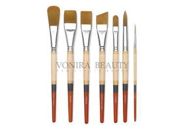 7Pcs Golden Taklon Art Body Paint Brushes Watercolor Acrylic Oil Paint Brushes