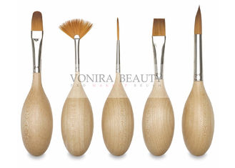 Creative Egg Art Professional Face Painting Brushes With High Grade Vegan Taklon Hair