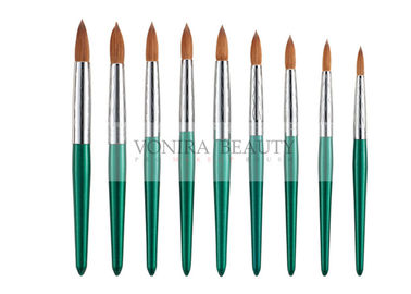 Fashion Green Nail Art Paint Brushes Kolinsky Hair And Carved Ferrule