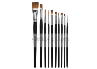 Watercolor Acrylic Paint Brushes Set 10 Synthetic Sable Artist Paint Brushes Short Handle