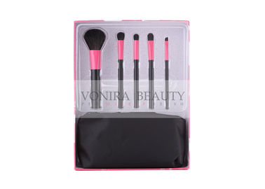 5 PCS Fashion Pink & Black Basic Gift Set With A Black Makeup Bag