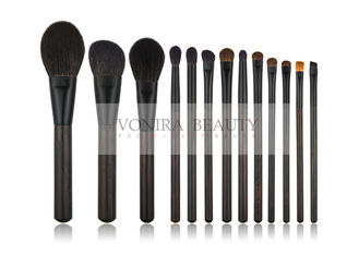 Luxury Nature Ebony Wooden Handle Nature Hair Makeup Brush Kit