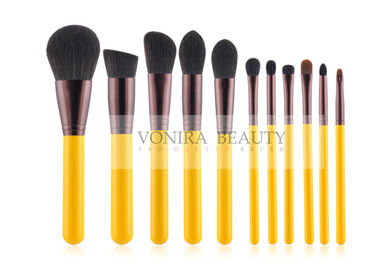Yellow Handle Stylish Makeup Brush Collection Kit For Basic Daily Application