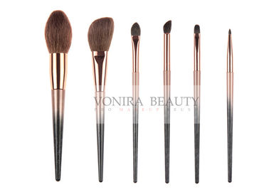 Colorful Must Have Natural Hair Makeup Brushes Collection 6 Pcs