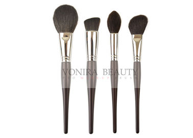 Luxury Nature Ebony Handle Natural Hair Makeup Brushes Set Collection