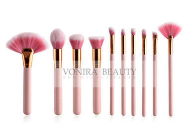 Economic 15 Pcs Pink Handle Synthetic Hair Makeup Brushes Set