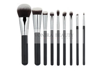 High end Synthetic Hair Black Handle Mass Level Makeup Brushes Set 9pcs