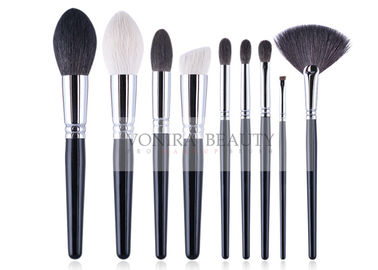 Complete Handmade Natural Hair Makeup Brush Set Durable Copper Ferrule