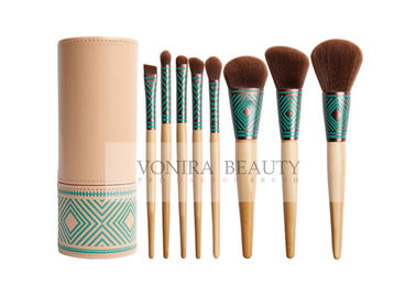 Beautiful Gril Synthetic Makeup Brushes Eco Bamboo Handle And Brush Holder
