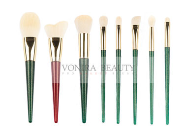 Private Label Synthetic Makeup Brushes Beautiful White Tapered Handle