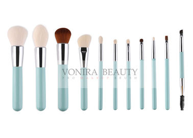 Spring Mint Green Synthetic Makeup Brushes 100% Vegan Free And Eco Friendly