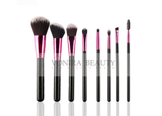 Classic Basic Mass Level Makeup Brushes With Shiny Rose Gold Ferrule