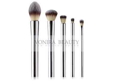 Gorgeous Mental Handle Synthetic Makeup Brushes Simple Cosmetics Set