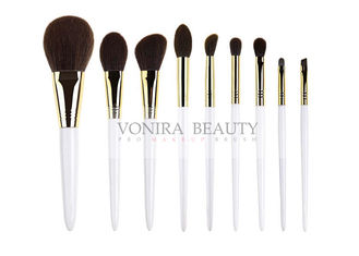 Essential Dazzling Synthetic Makeup Brush Pearl White Handle Brushes