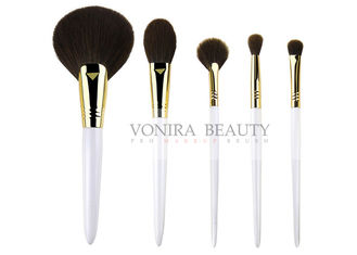 Fabulous Synthetic Makeup Brushes Pearl White Handle Simple Tools