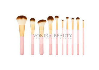 China 10 Pcs Durable Soft Synthetic Makeup Brushes , Basic Makeup Brushes Smoothest Hair Finish supplier