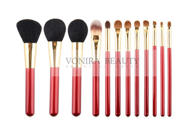 China 12PCS Bright Color Middle Quality Makeup Brushes Facial Tools supplier