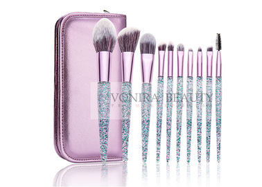 China Gorgeous Shiny Essential Makeup Brushes Bright Facial Tools Custom Design supplier
