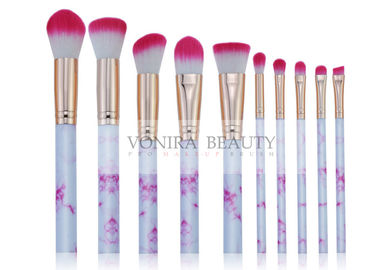 Marvelous Marble Handle Mass Level Makeup Brushes For Facial , High End