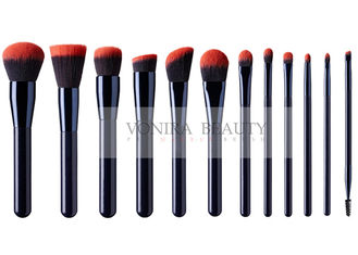 China 12 Pieces Premium Synthetic Hair Makeup Brushes Set With Pink Hair Tips supplier
