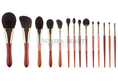 China Goat Natural Hair Makeup Brushes Basic Daily Set With Special Luxury Ebony Handle supplier
