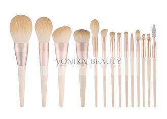 Luxury Soft Rosy Gold Synthetic Hair Brush 14 pcs Professional Makeup Brush Cosmetic Brush Set