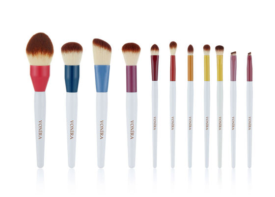 11Pcs Handcrafted Nano Crystal Fiber Makeup Brush Set