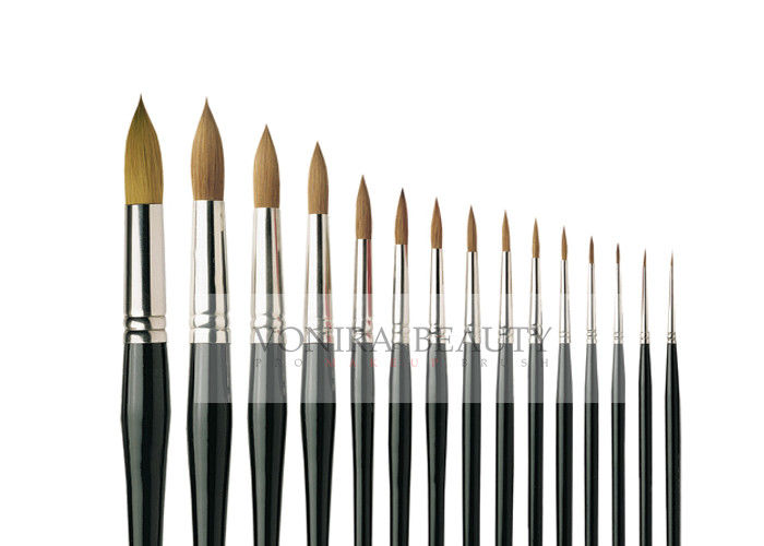 Pro 15 Pieces Body Makeup Paint Brushes Watercolour Oil Paint Round Brush Collection