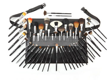 China Professional Classic Black Makeup Brush Collection Set With Brush Belt factory