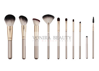 China Brilliant Quality Goat Hair Makeup Brushes / Resilient Ultra Fine Synthetic Hair Makeup Brushes factory
