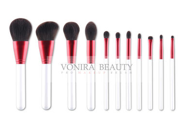 China Vonira Hot Pink Limited Edition Real Hair Makeup Brush Set Pearl White Handle factory