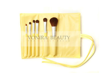 China Cute Yellow Christmas Makeup Brush Gift Set With Nature Soft Sable Hairs factory