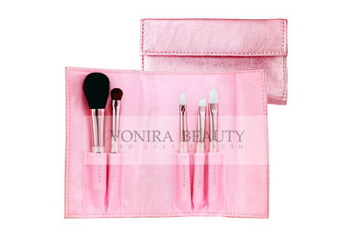 China 5 PCS Pink Promotional Cosmetic Brush Kit / Soft Makeup Brushes factory
