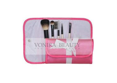 China OEM Gift / Travel Makeup Brush Gift Set Nature Hair Bristle And Pink Brush Case factory