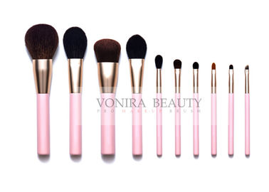 China 10 PCS Real Hair Makeup Brush Set Collection With Over All Brushes Daily Need factory