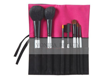China 7 PCS Daily Use Cosmetic Brush Set With Black , Pink Cloth Case factory