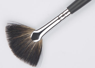 High Quality Small Soft Fan Makeup Brush With Natural Racoon Hair