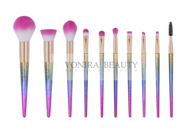 China Customized 10pcs Professional Makeup Brush Set With Gradient Color Handle factory
