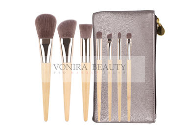 China 7pcs Wood Handle And Silver Color Ferrule Professional Makeup Brushes Kit factory